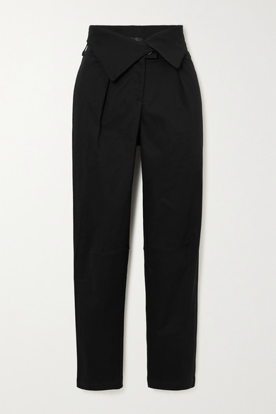 The Range Stretch-cotton Twill Tapered Pants In Black