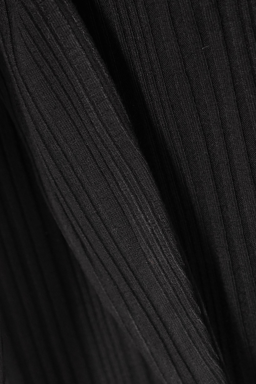 The Range Wave cutout ribbed stretch-jersey halterneck bodysuit