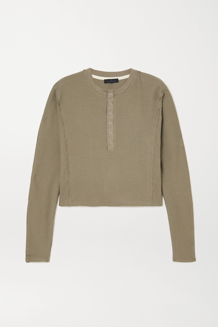 The Range Waffle-knit cotton-blend top