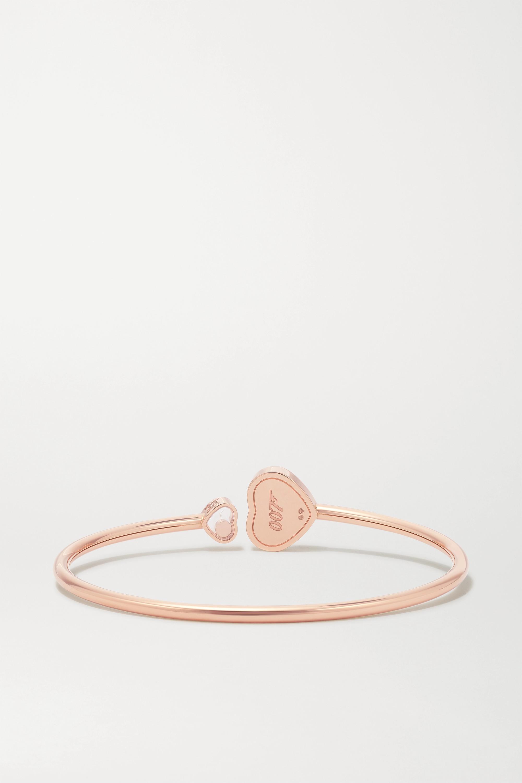 Chopard + 007 Happy Hearts Golden Hearts Armspange aus 18 Karat Roségold mit Diamant