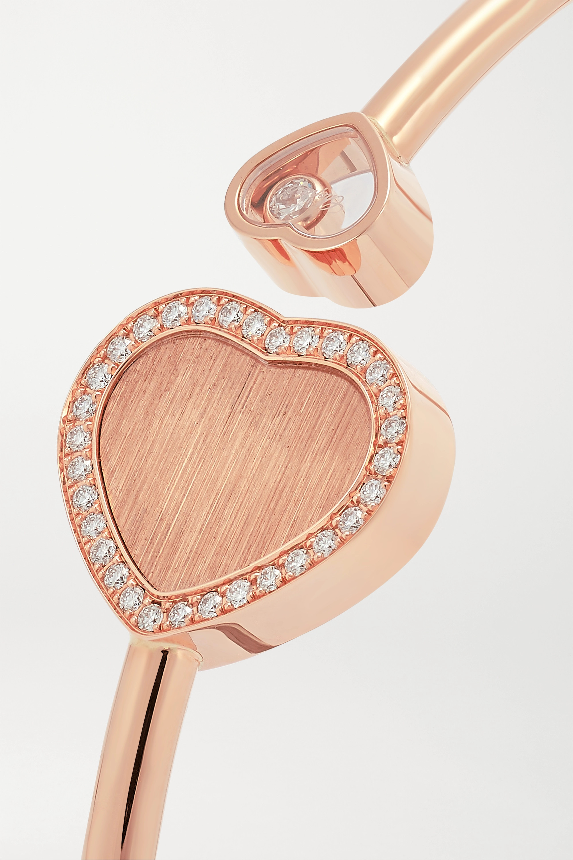 Chopard + 007 Happy Hearts Golden Hearts 18-karat rose gold diamond cuff
