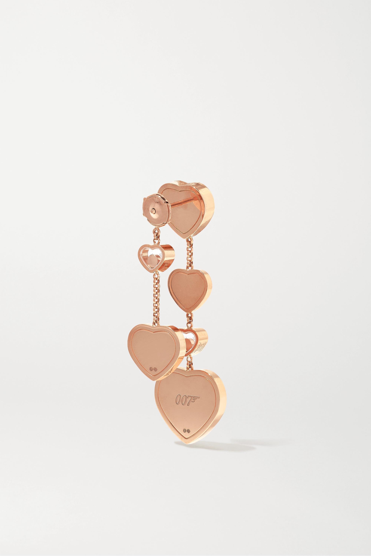 Chopard + 007 Happy Hearts Golden Hearts 18-karat rose gold diamond earrings