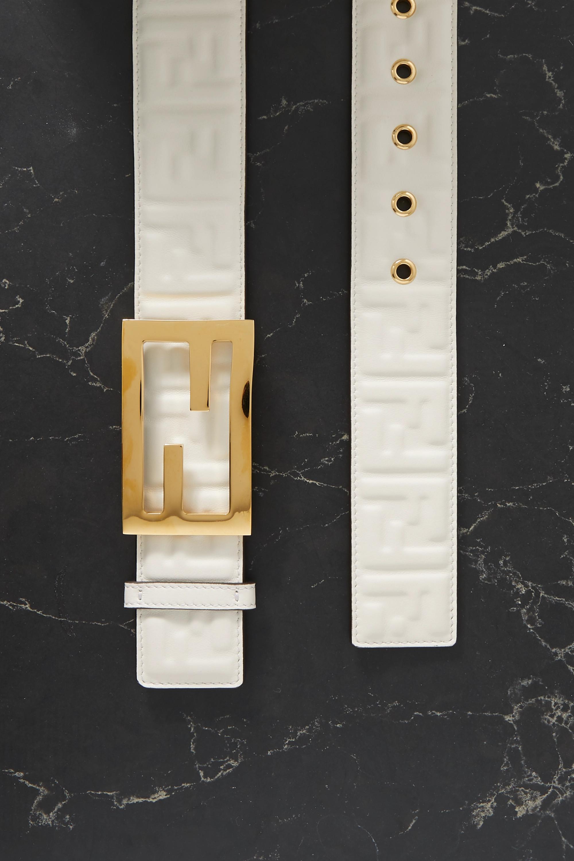 Fendi Embossed leather belt