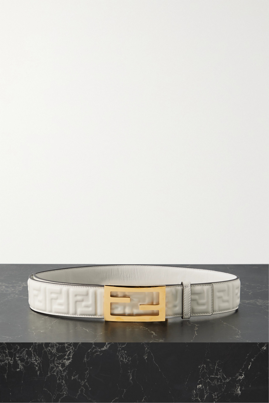 Fendi Embossed leather belt
