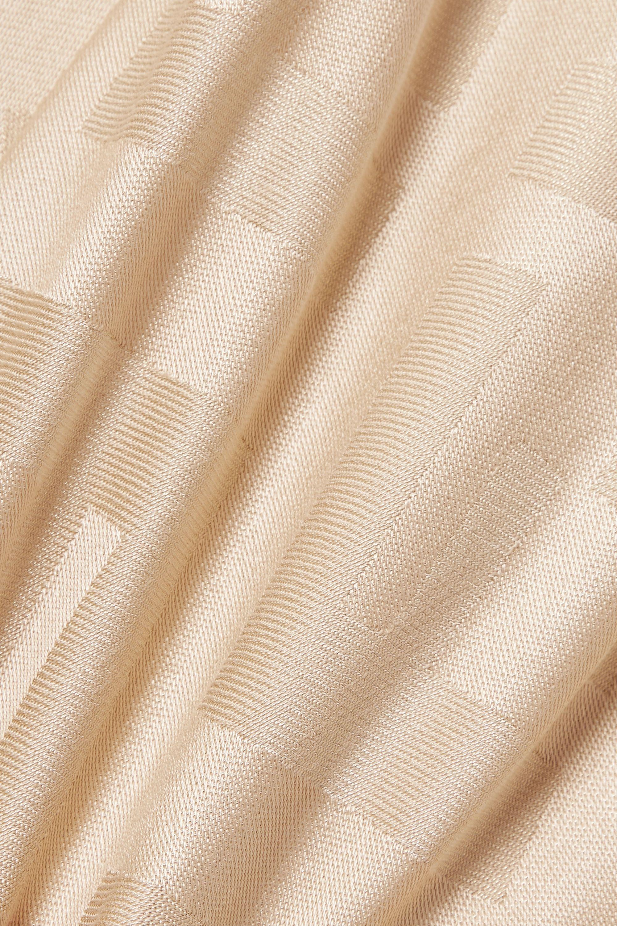 Fendi Metallic jacquard wrap