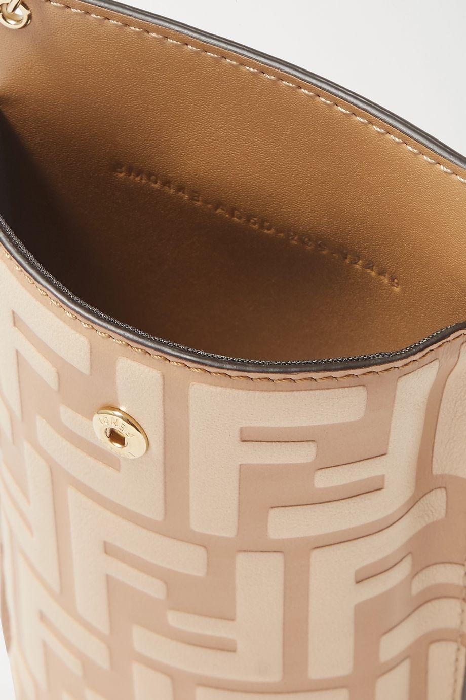 Fendi Coque pour Iphone 11 Pro en cuir gaufré