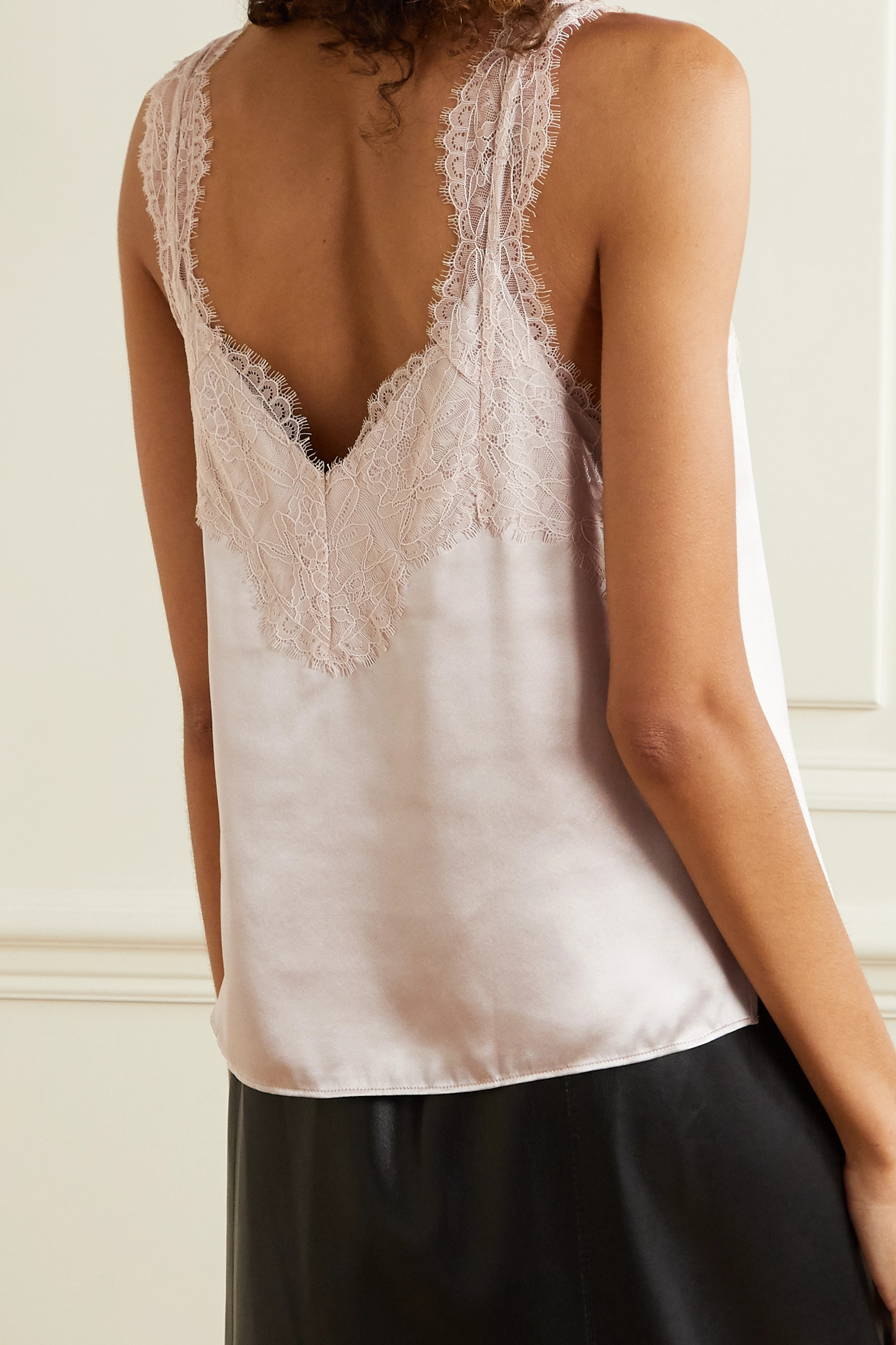 Cami NYC The Brandice lace-trimmed silk-charmeuse camisole