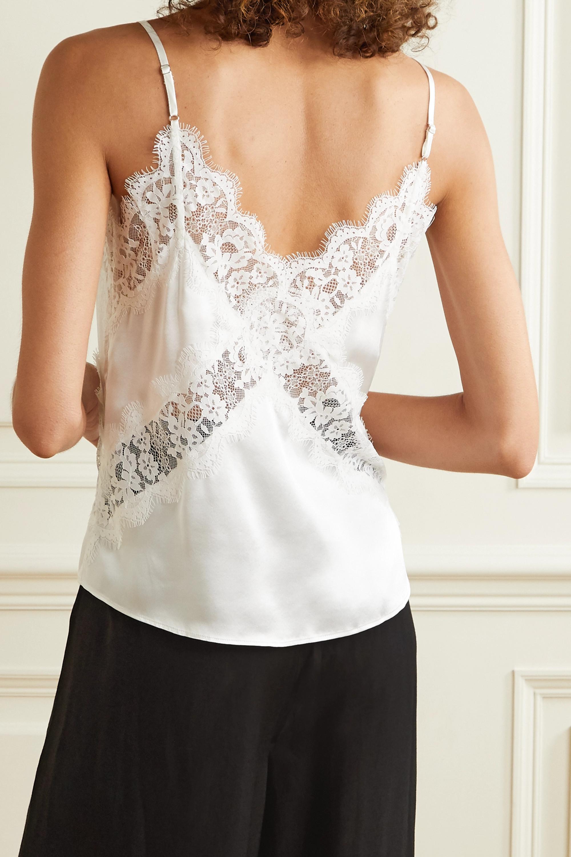 Cami NYC The Dane lace-paneled silk-charmeuse camisole