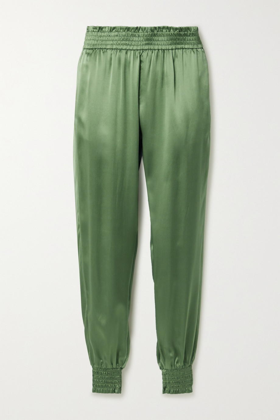 Cami NYC The Selbie silk-charmeuse tapered track pants
