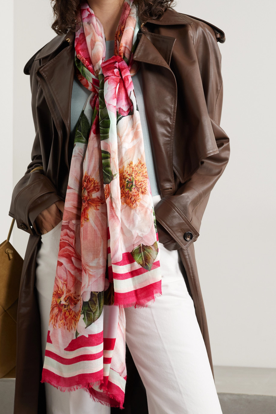 Dolce & Gabbana Floral-print modal and cashmere-blend voile scarf