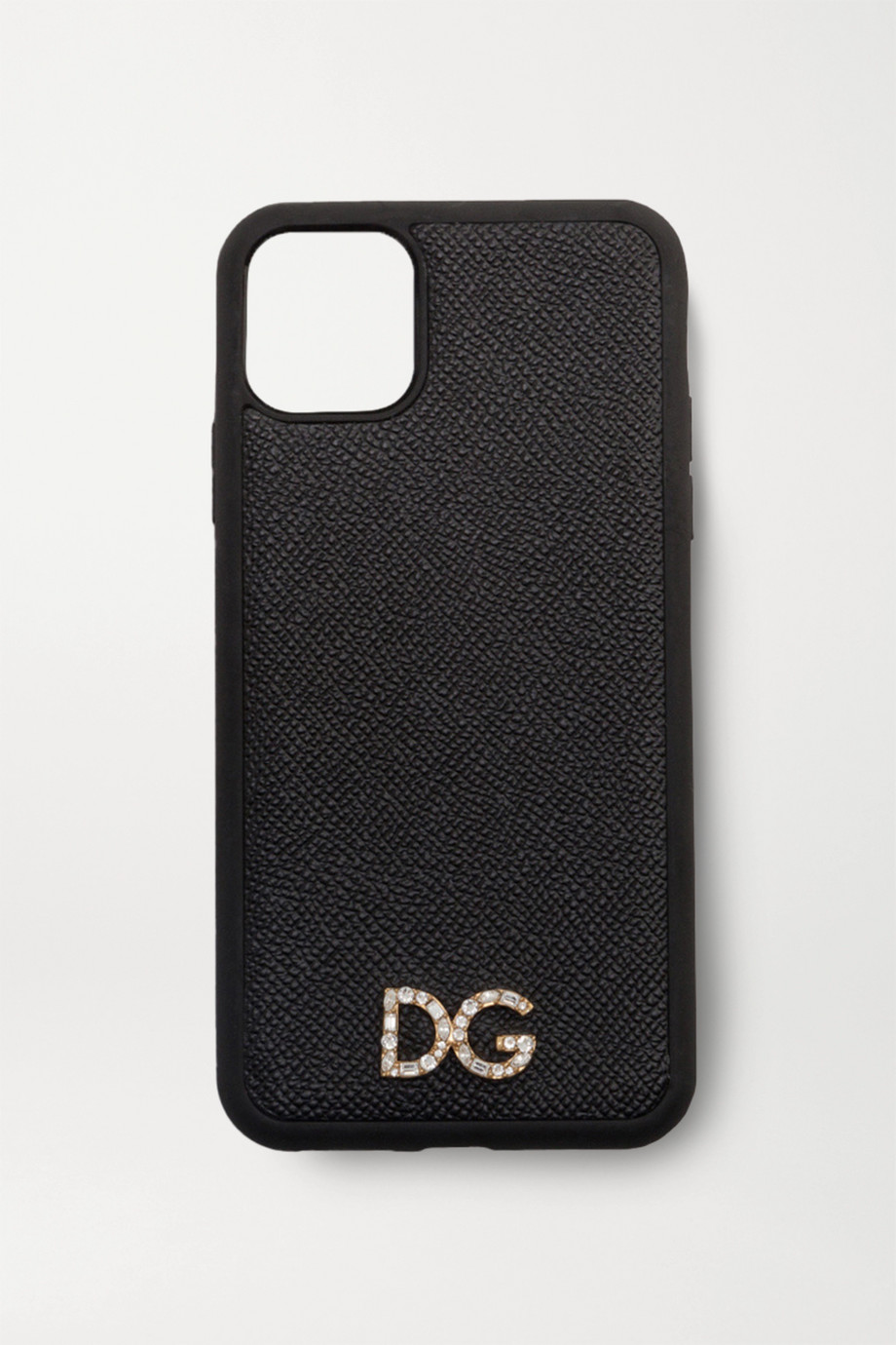 Dolce & Gabbana Crystal-embellished textured-leather iPhone 11 Pro Max case