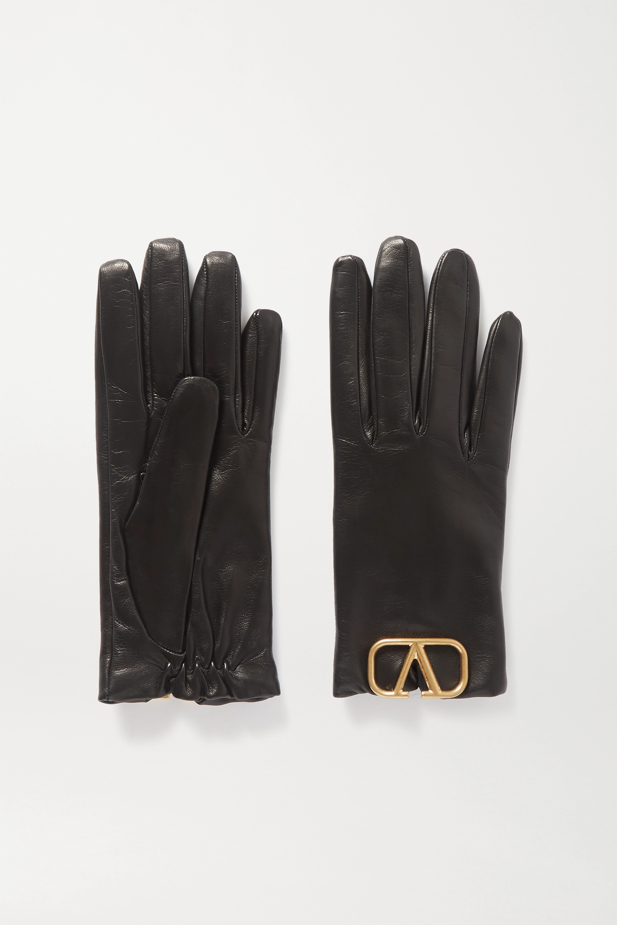 Valentino Embellished leather gloves