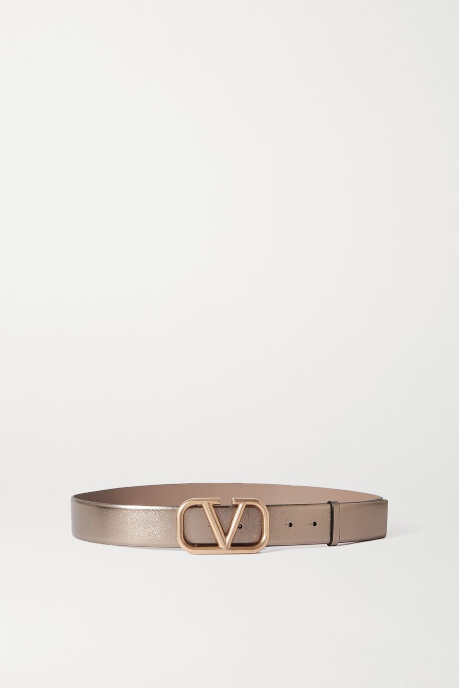 Valentino Valentino Garavani metallic leather belt