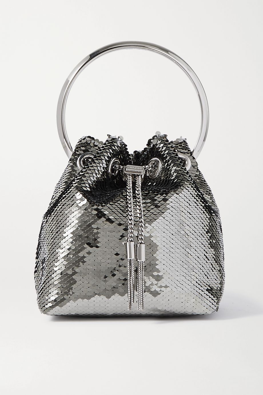 Jimmy Choo Bon Bon sequined satin tote