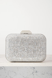 Jimmy Choo Cloud crystal-embellished metallic suede clutch