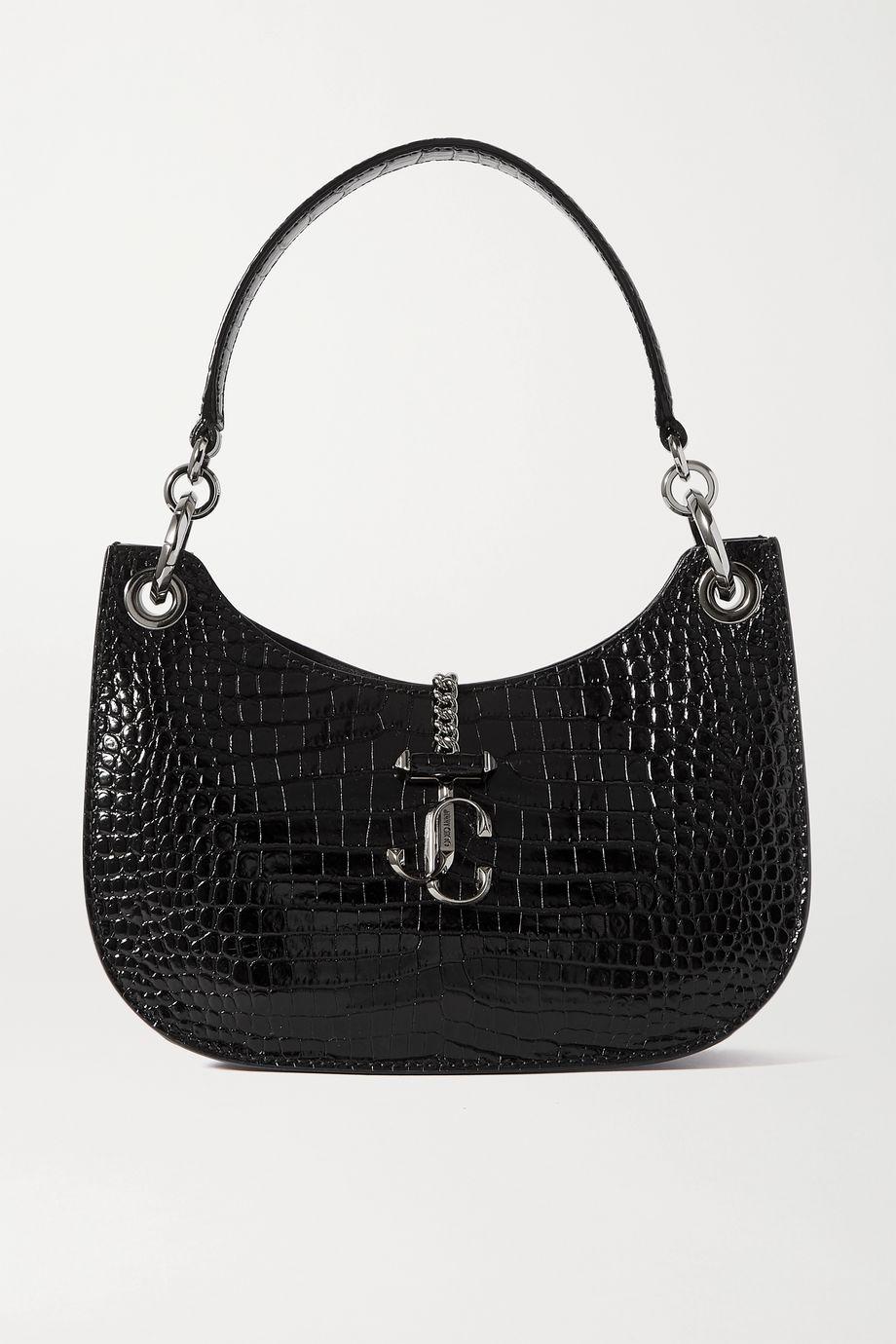 Jimmy Choo Verenne croc-effect leather shoulder bag