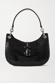 Jimmy Choo Verenne croc-effect leather shoulder bag