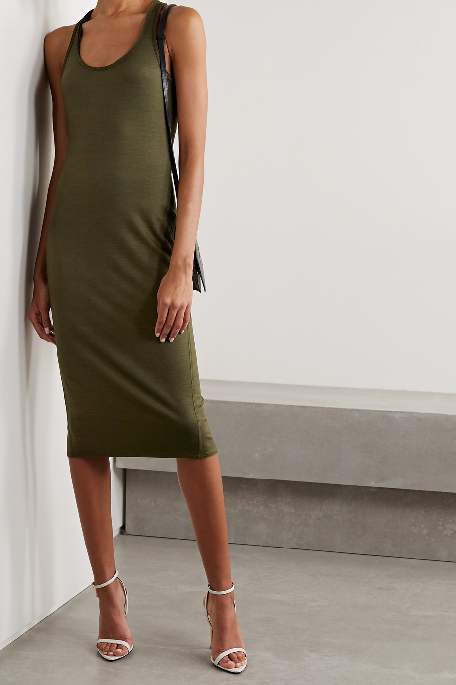 TOM FORD Stretch-wool midi dress