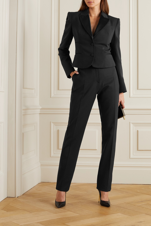 TOM FORD Silk satin-trimmed wool-blend blazer