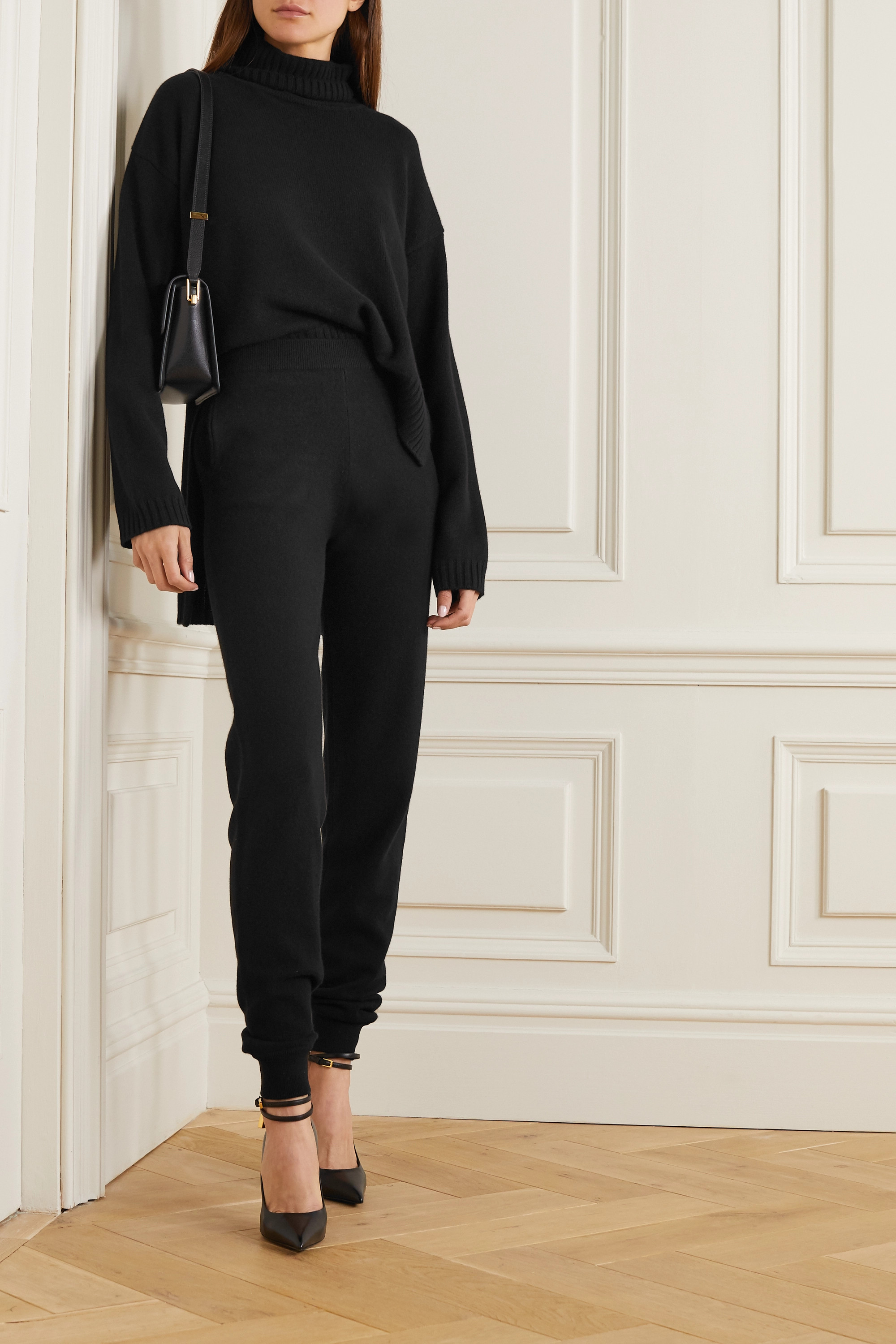 TOM FORD Asymmetric cashmere turtleneck sweater