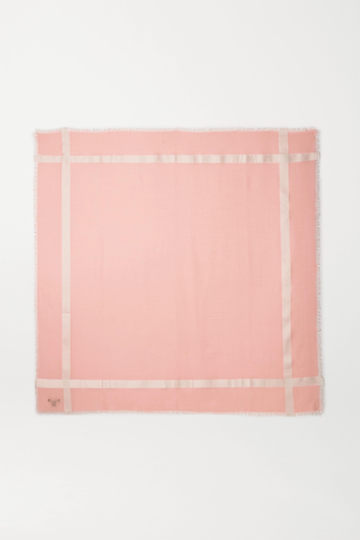 Loro Piana Frayed cashmere and silk-blend scarf