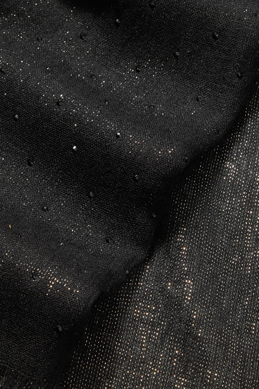 Loro Piana Écharpe en cachemire mélangé métallisé à cristaux