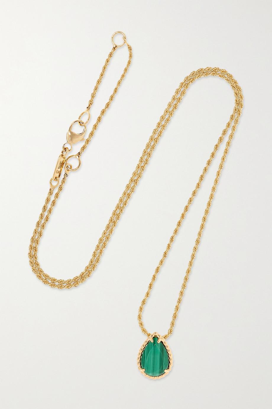 Boucheron Serpent Bohème Kette aus 18 Karat Gold mit Malachit
