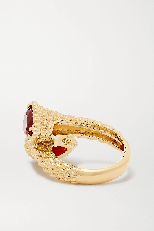 Boucheron Serpent Bohème 18-karat gold carnelian ring