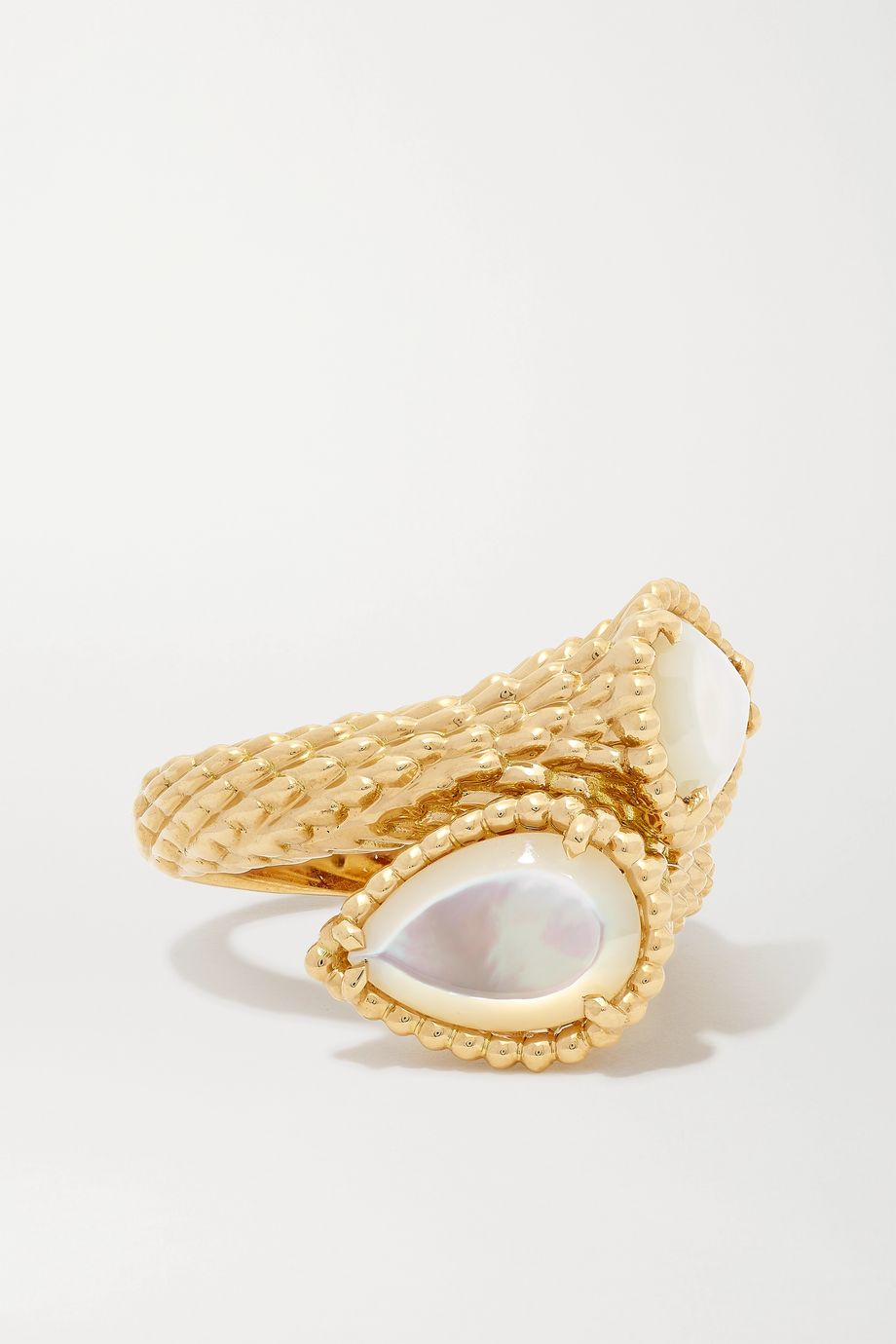 Boucheron Serpent Bohème 18-karat gold mother-of-pearl ring