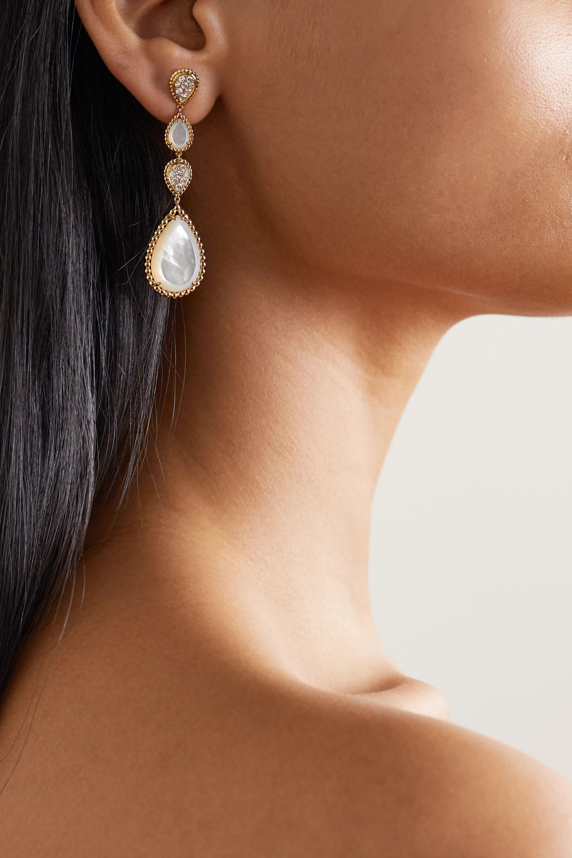 Boucheron Serpent Bohème 18-karat gold, mother-of-pearl and diamond earrings