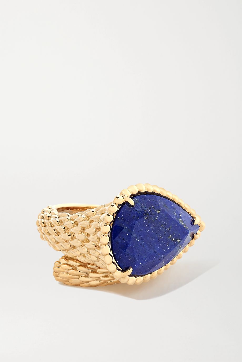 Boucheron Serpent Bohème 18-karat gold lapis lazuli ring