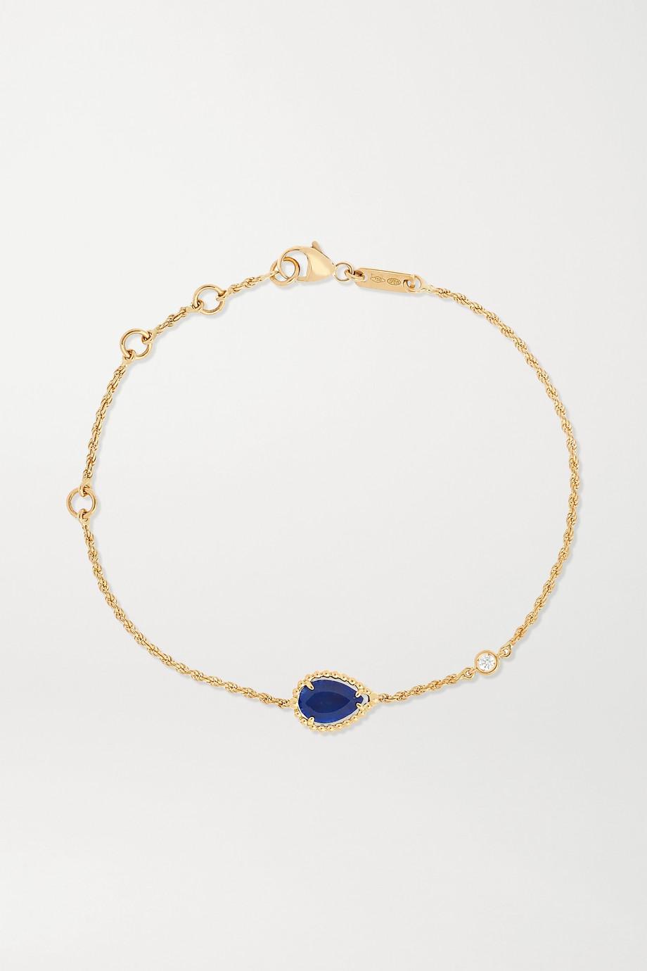 Boucheron Serpent Bohème 18-karat gold, lapis lazuli and diamond bracelet