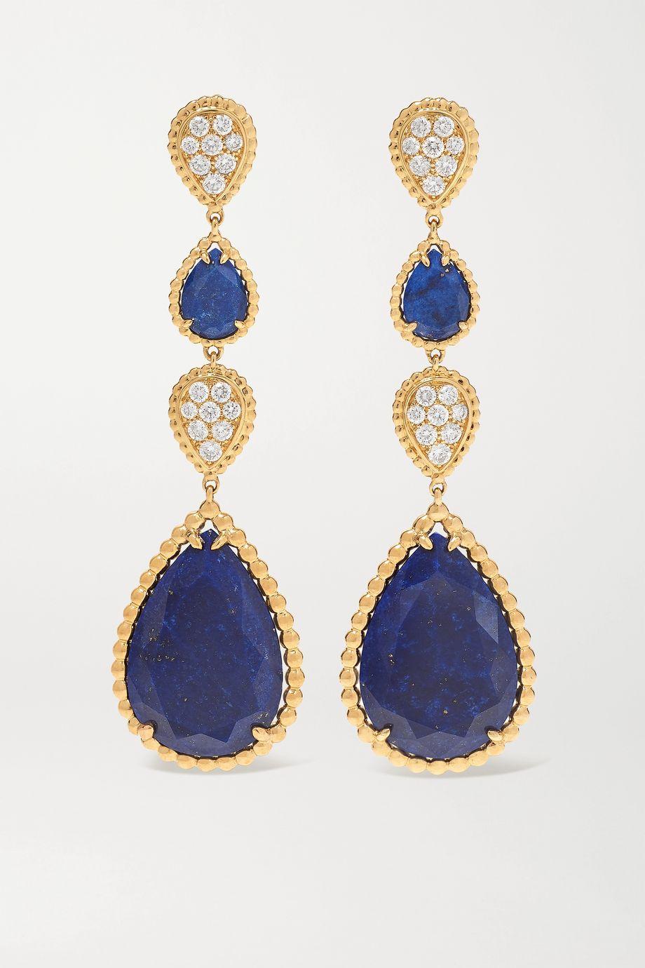 Boucheron Serpent Bohème 18-karat gold, lapis lazuli and diamond earrings