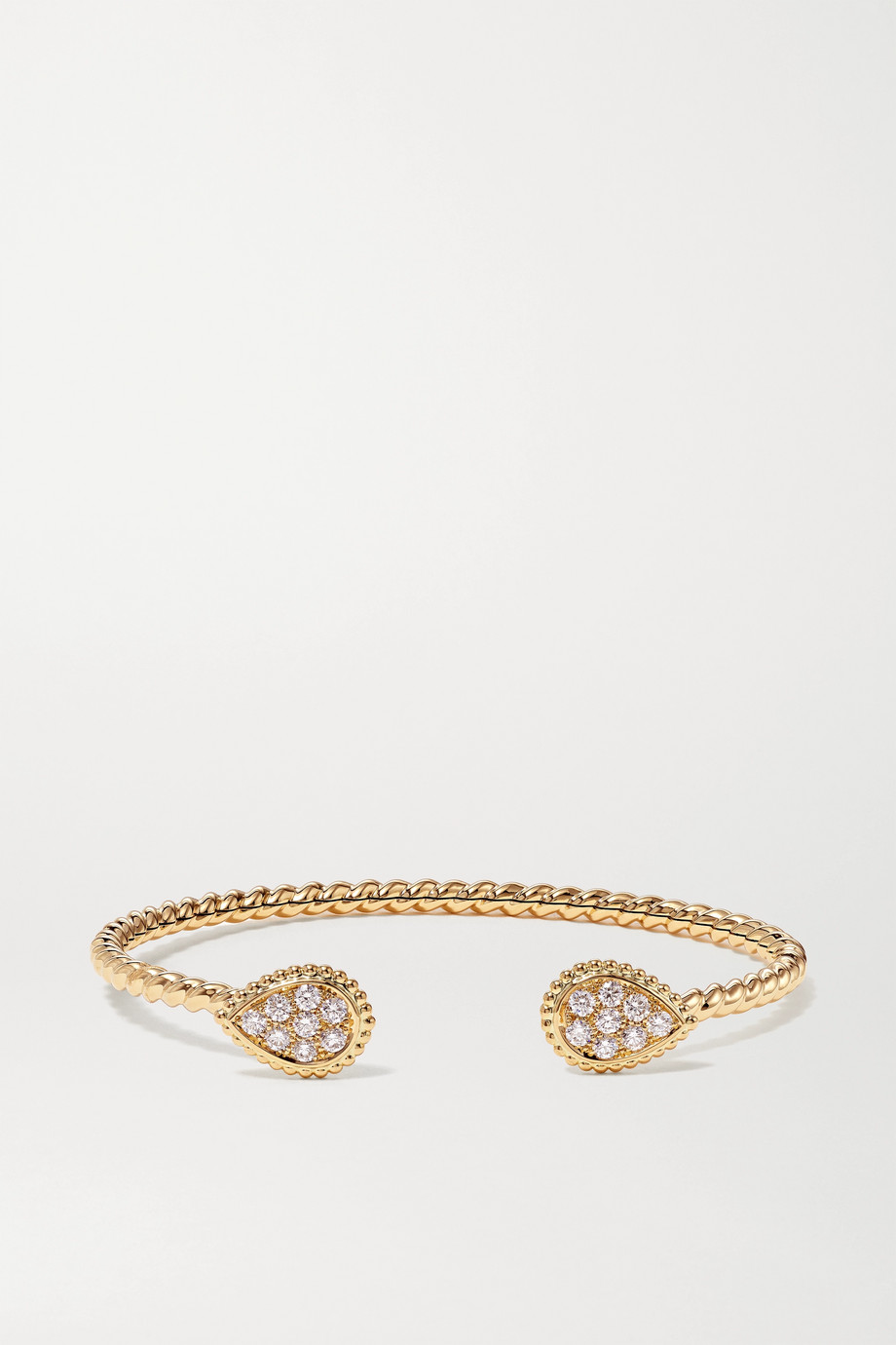 Boucheron Serpent Bohème 18-karat gold diamond cuff