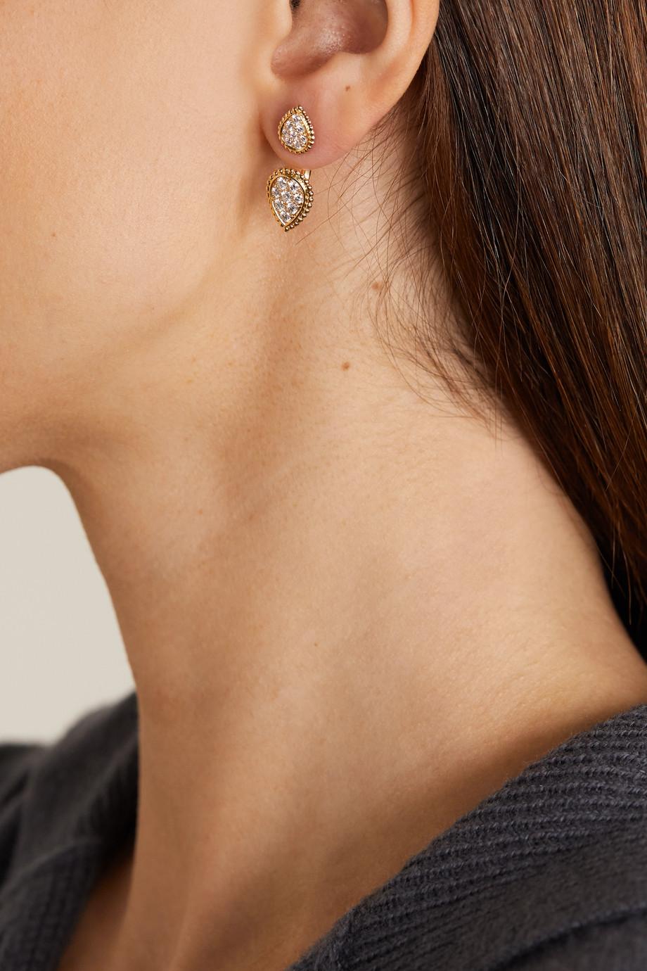 Boucheron Serpent Bohème Double 18-karat gold diamond earring