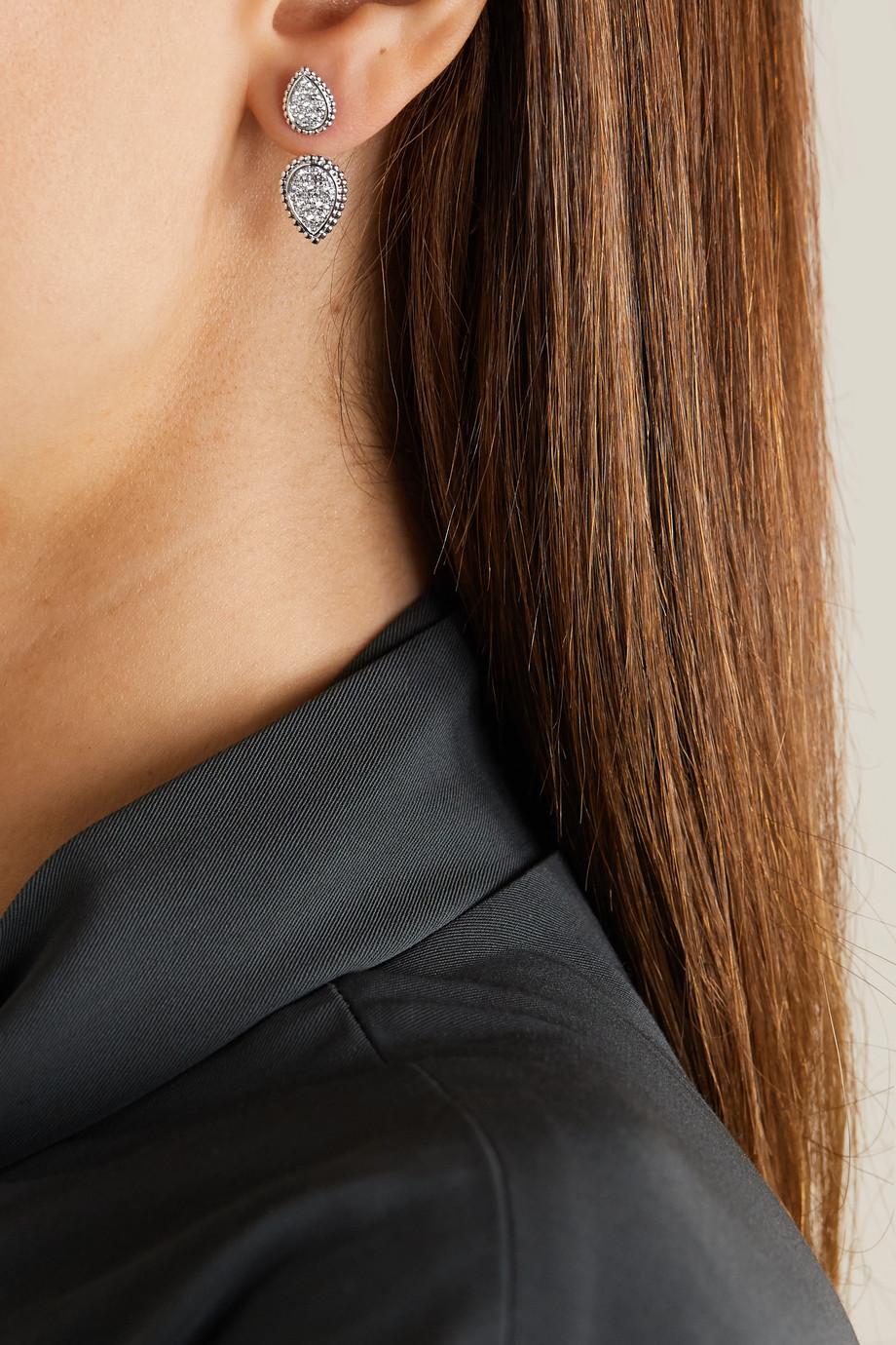 Boucheron Serpent Bohème Double 18-karat white gold diamond earring