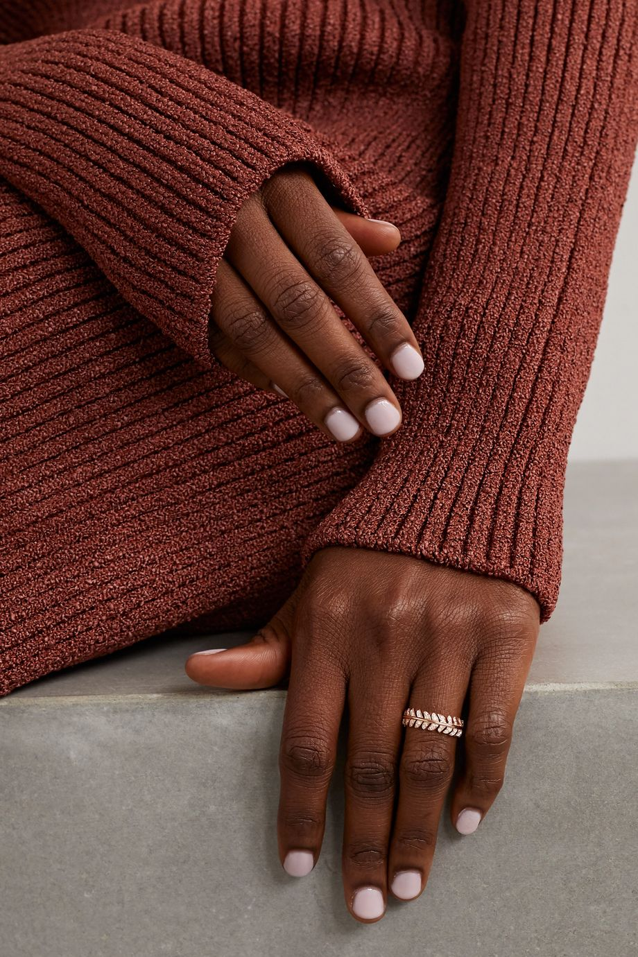 Boucheron Plume de Paon Ring aus 18 Karat Roségold mit Diamanten