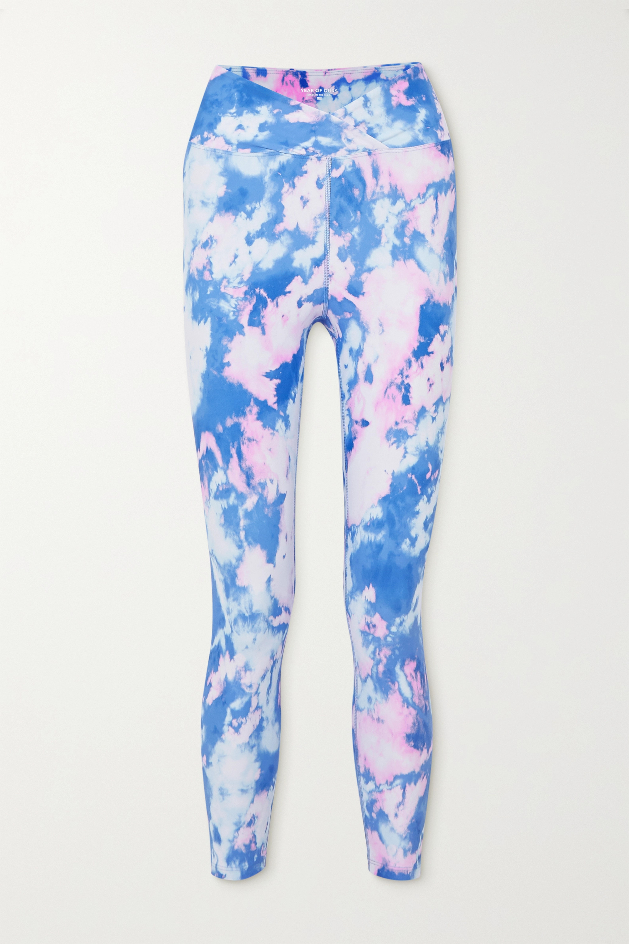 Year of Ours Veronica Stretch-Leggings mit Batikmuster