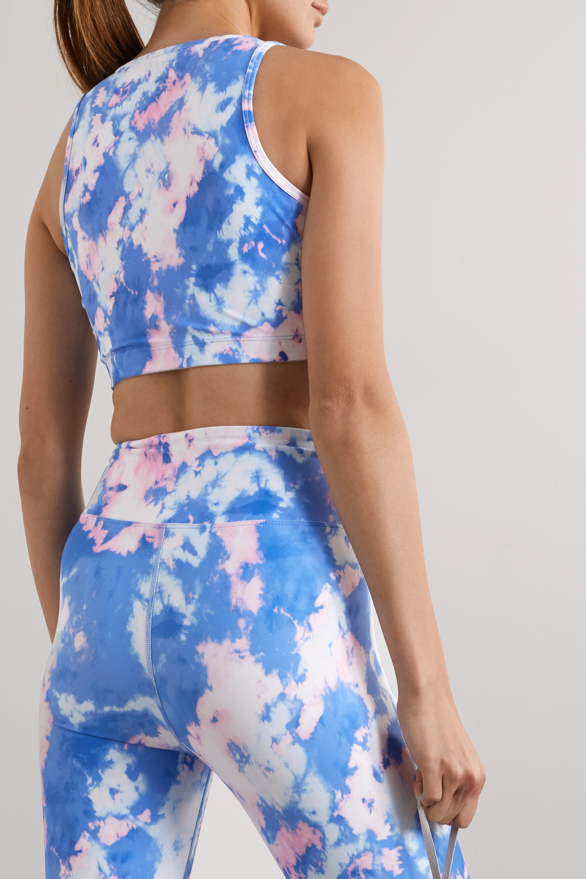 Year of Ours Claudia tie-dyed stretch sports bra