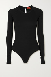 Alix NYC Coles cutout twist-back ribbed stretch-modal jersey bodysuit
