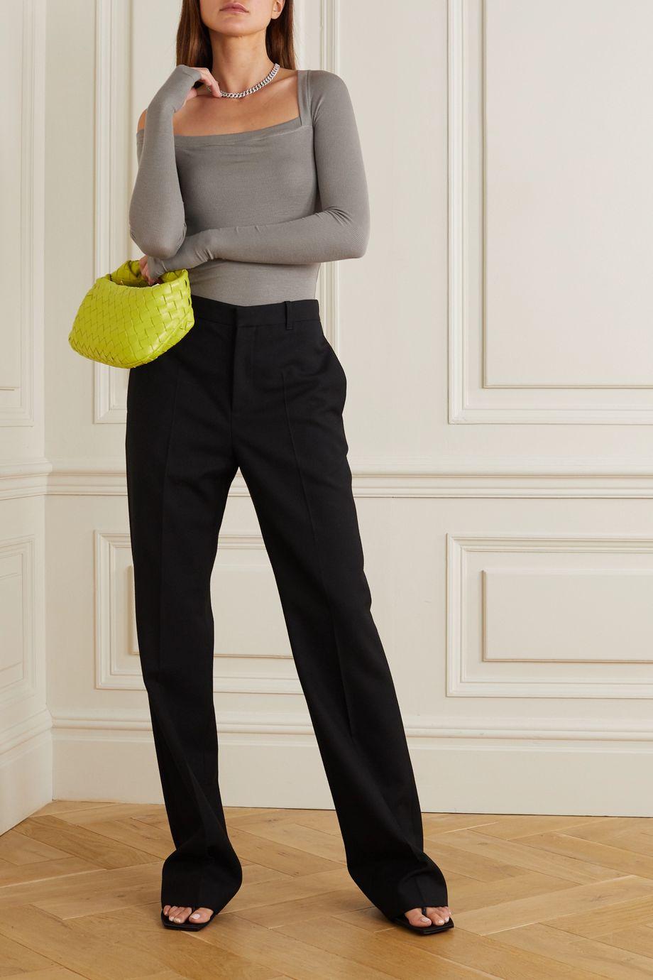 Alix NYC Hester 单肩罗纹弹力平纹布连体丁字裤式紧身衣