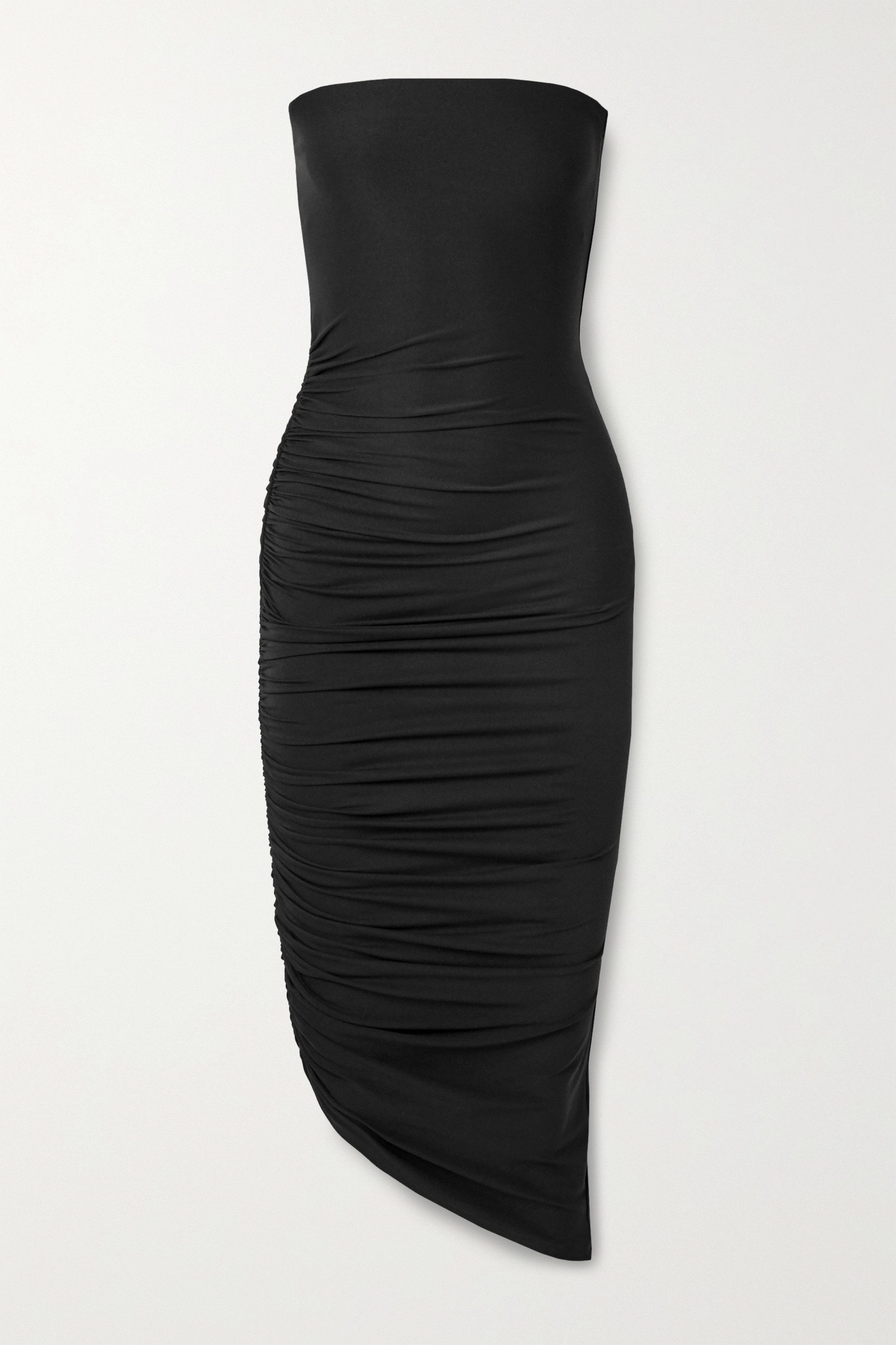 Alix NYC Crawford strapless asymmetric ruched stretch-jersey dress
