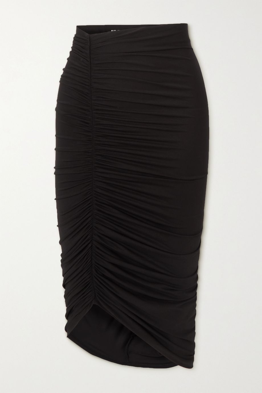Alix NYC Langston asymmetric ruched stretch-jersey skirt