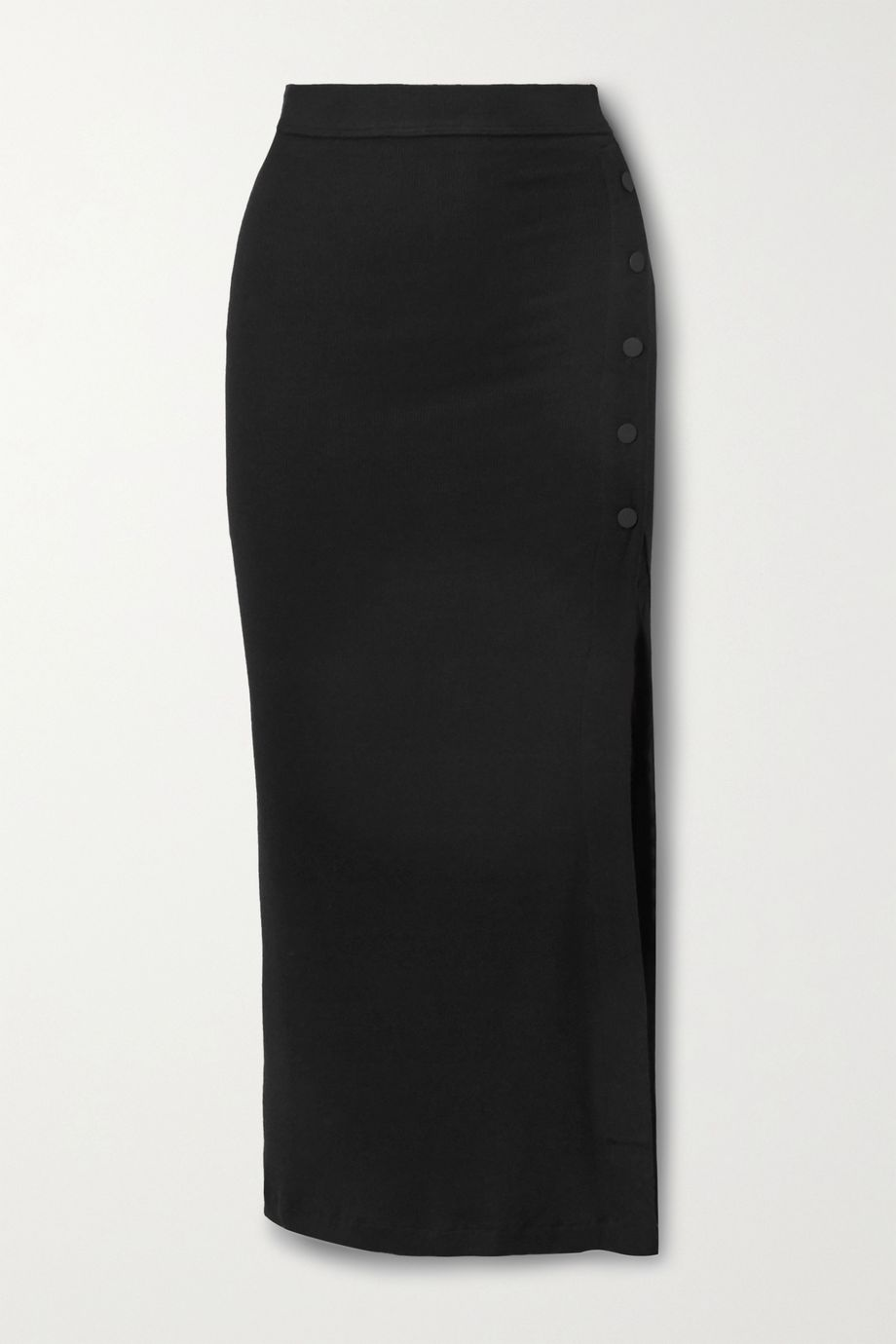Alix NYC Fordham ribbed stretch-modal jersey midi skirt