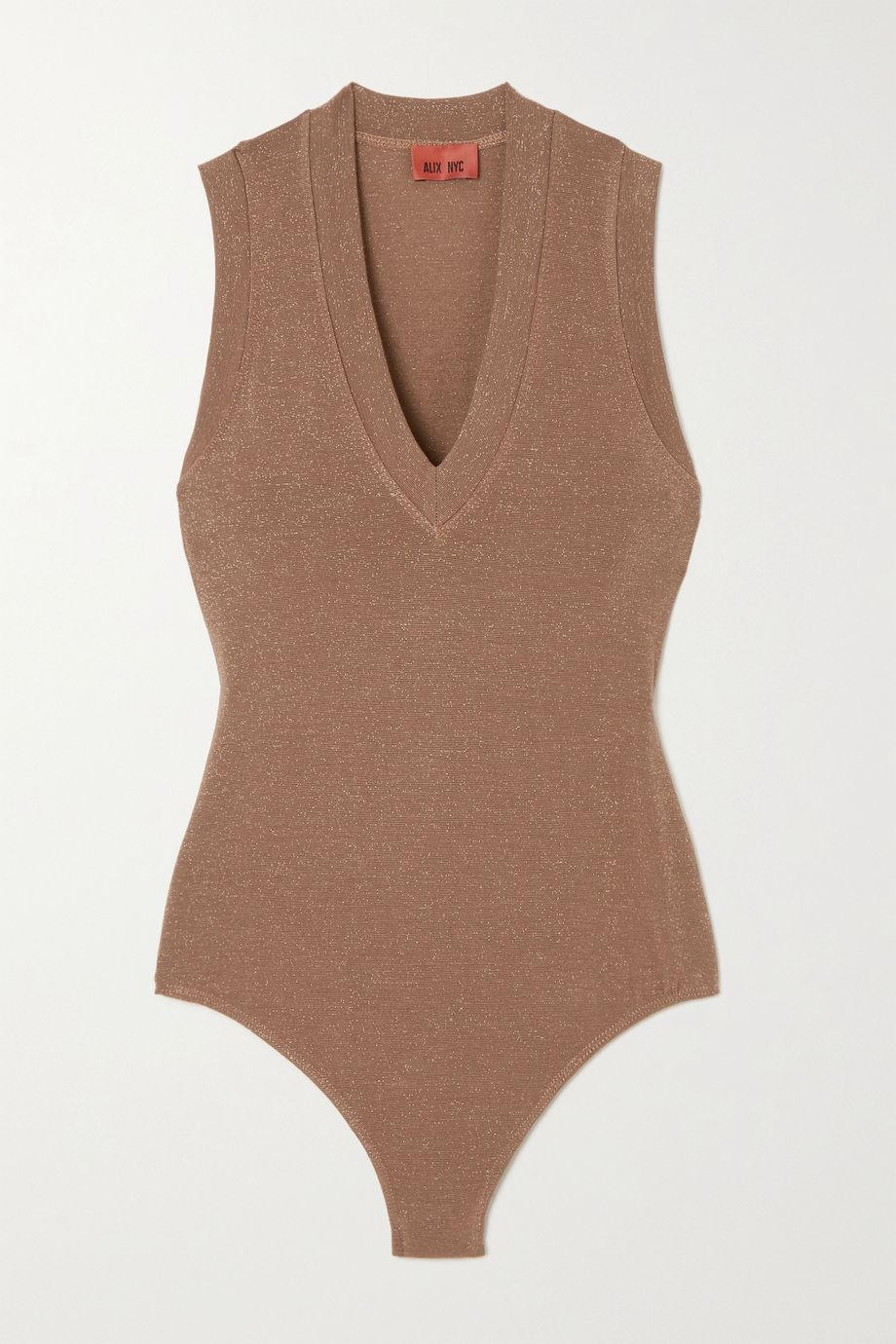Alix NYC Merit metallic stretch-jersey bodysuit