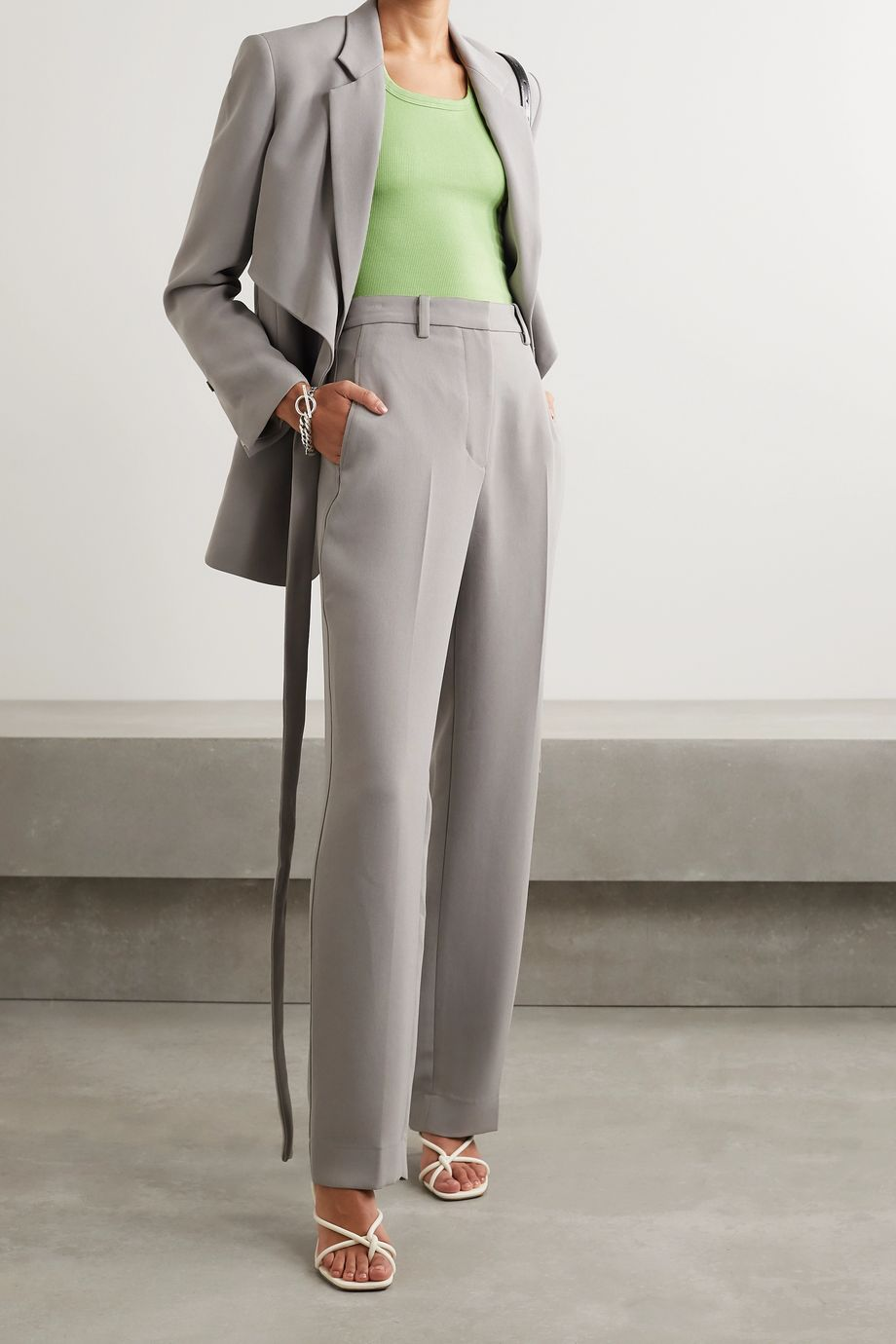 Alix NYC Austin 罗纹弹力莫代尔平纹布连体丁字裤式紧身衣