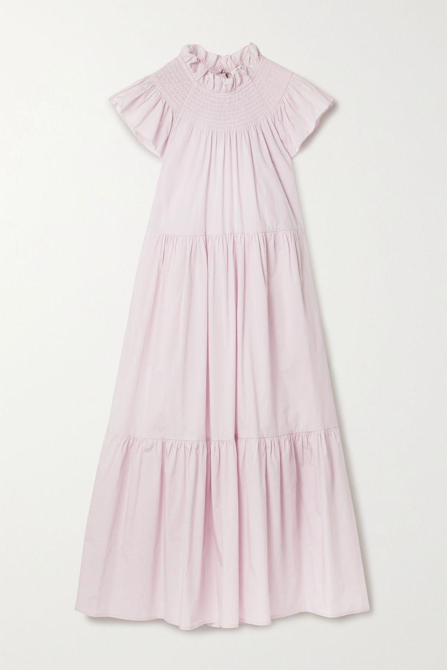 Sea Marlene 层接式棉质混纺府绸中长连衣裙