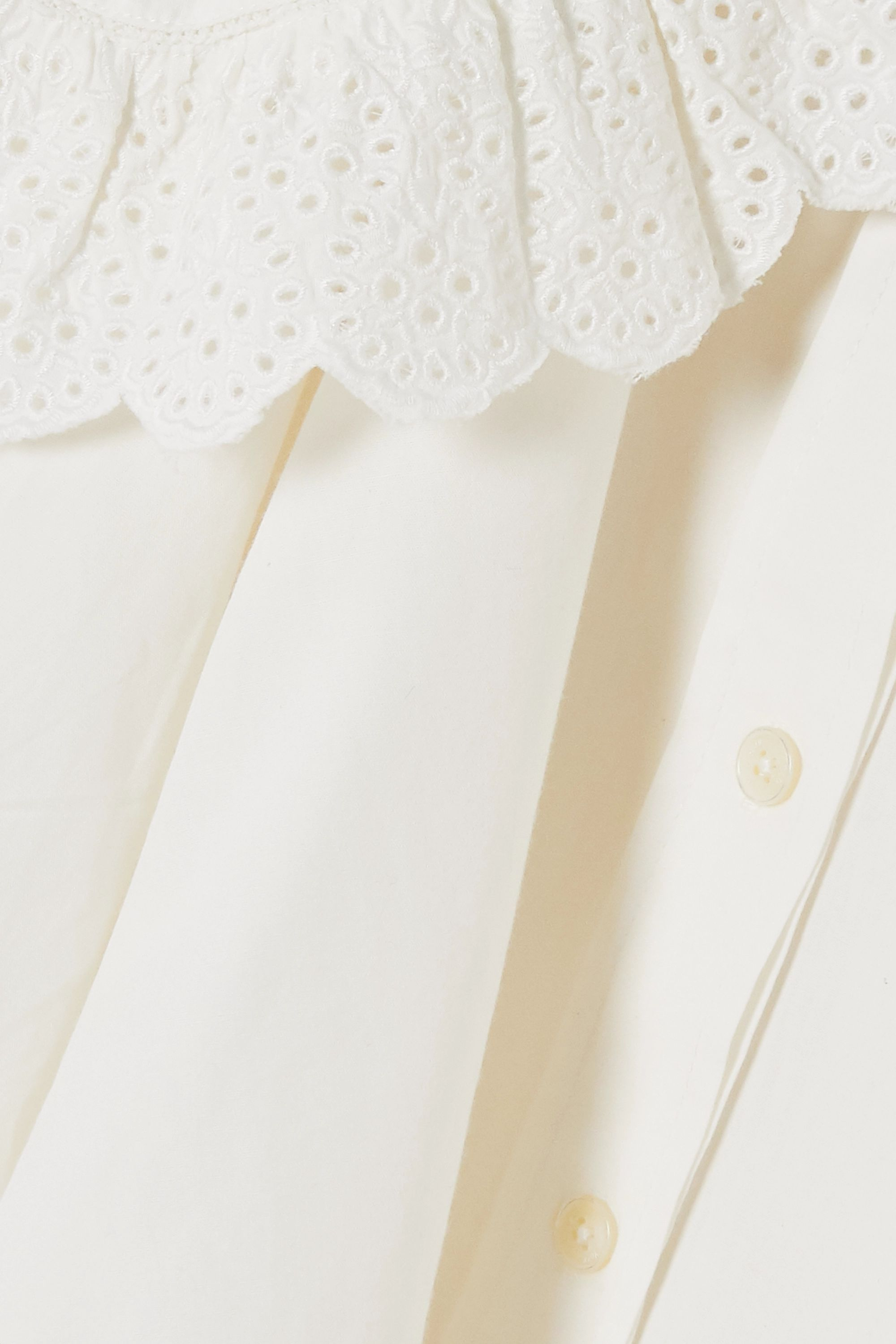 Sea Marina broderie anglaise cotton-poplin blouse