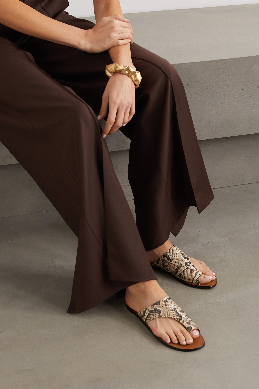ATP Atelier Rosa 挖剪仿蛇纹皮革凉鞋