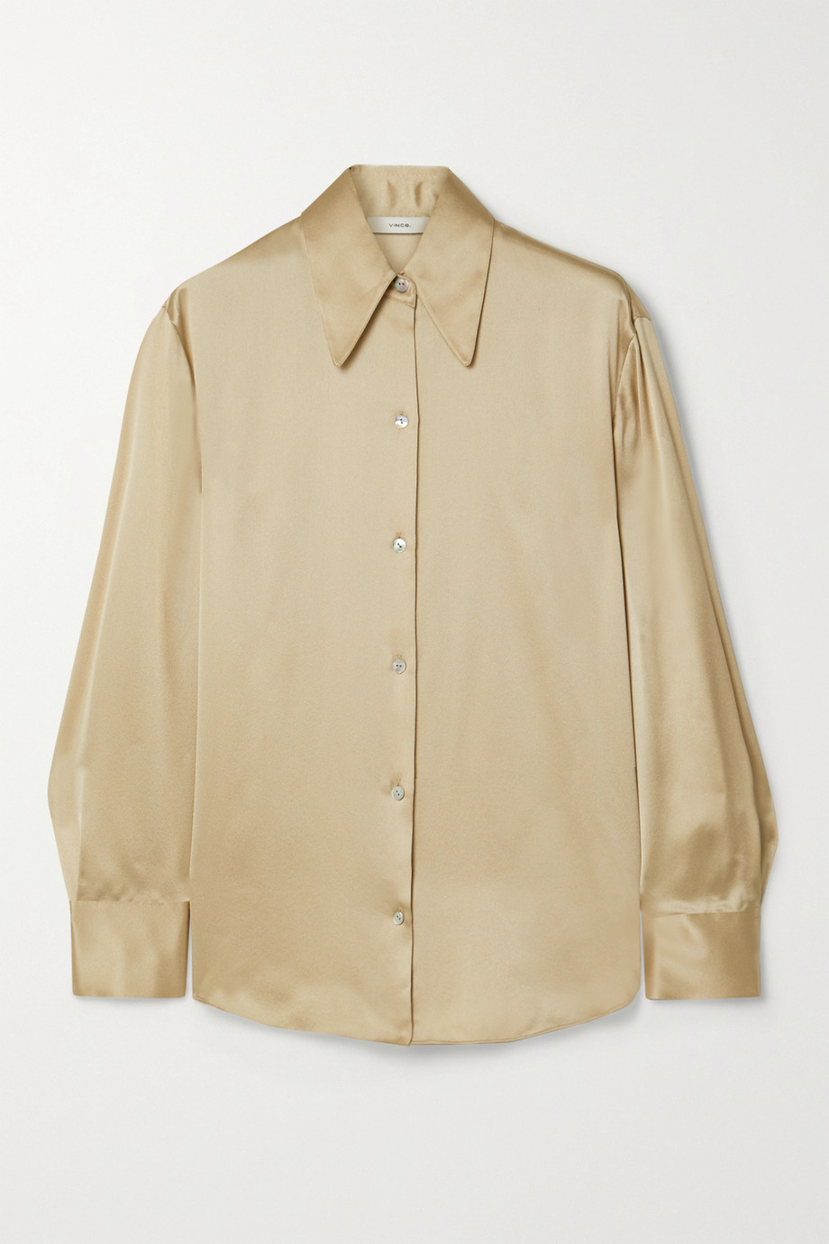 Vince Silk-satin shirt